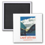 Lake Louise Canadian Rockies Canada 2 Inch Square Magnet