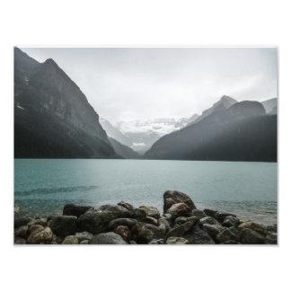 Lake Louise en la lluvia Fotografia