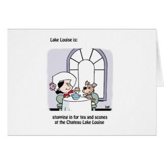 Lake Louise es: el castillo francés Tarjeta De Felicitación