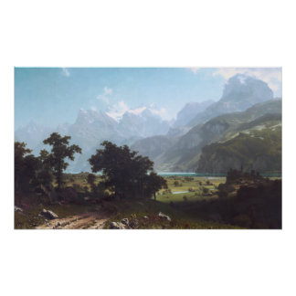 Lake Lucerne by Albert Bierstadt Poster
