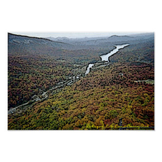 Lake Lure @ Chimney Rock Gloss Canvas Print