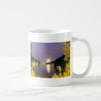 lake lure fireworks coffee mug