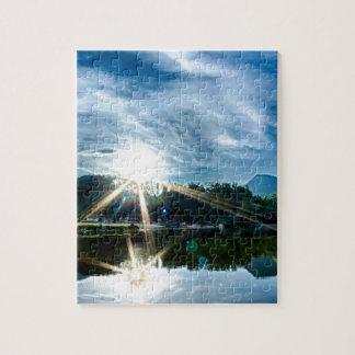 lake lure landscapes near chimney rock jigsaw puzzles