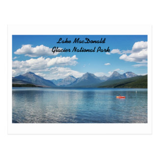 Lake Macdonald, Glacier National Park Postcard