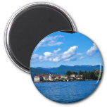Lake Maggiore from Stresa with cable car, Italy Fridge Magnets