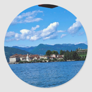 Lake Maggiore from Stresa with cable car, Italy Round Stickers