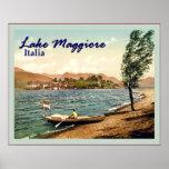 Lake Maggiore ~ Italia ~ Vintage Travel Poster