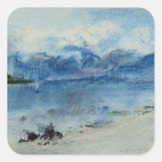 Lake Maggiore Square Stickers