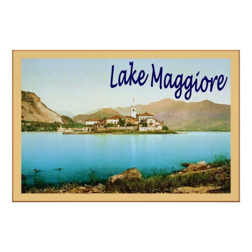 Lake Maggiore ~ Vintage Travel Poster