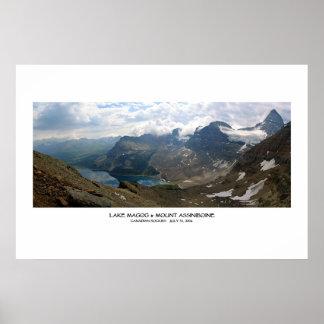 Lake Magog & Mt Assiniboine Poster