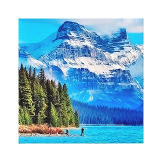 Lake Maligne, Canada Canvas Print