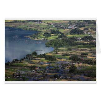 Lake Maninjau caldera lake in West Sumatra Card