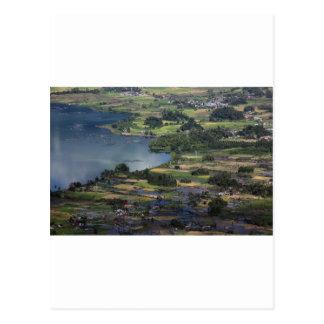 Lake Maninjau caldera lake in West Sumatra Postcard