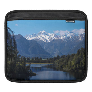Lake Matheson & Mt Cook, New Zealand Sleeve For iPads