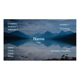 Lake McDonald, Galcier National Park Double-Sided Standard Business Cards (Pack Of 100)