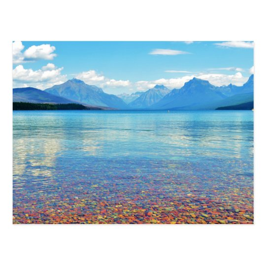 Lake McDonald Glacier National Park, Mt Postcard