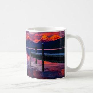 Lake McDonald, Glacier National Park red sky Coffee Mug