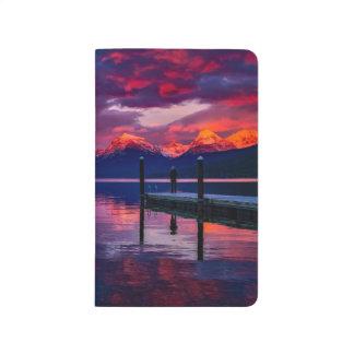 Lake McDonald, Glacier National Park red sky Journal