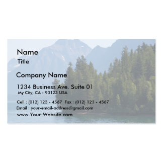 Lake Mcdonald In Glacier National Park Montana Double-Sided Standard Business Cards (Pack Of 100)