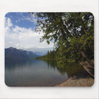 Lake Mcdonald Is The Largest Lake In Glacier Natio Mousepads