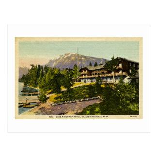 Lake McDonald Lodge Glacier National Park Postcard