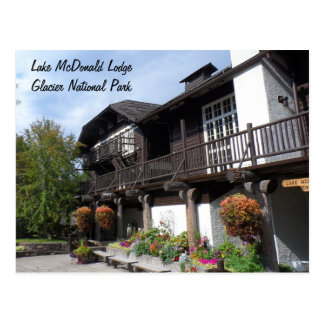 Lake McDonald Lodge- Glacier National Park Postcard
