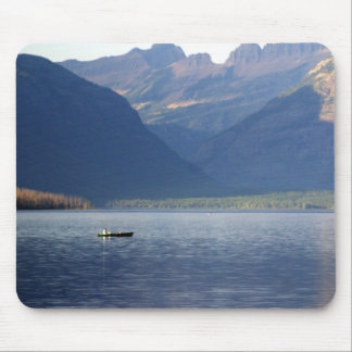 Lake McDonald Paddler Mouse Pad