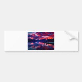 Lake McDonald Sunset Bumper Sticker