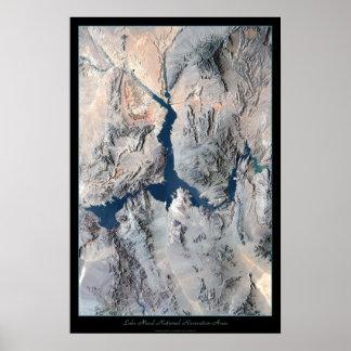 Lake Mead satellite poster print photo