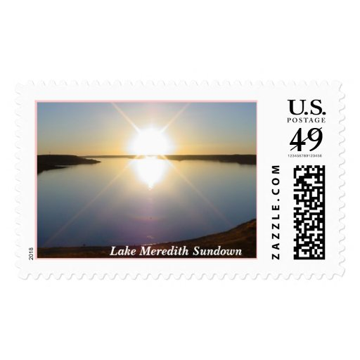 lake  Meredith Sunset Postage