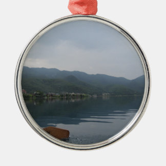 lake metal ornament