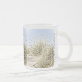 Lake Michigan Beach Grass Photo Frosted Glass Coffee Mug