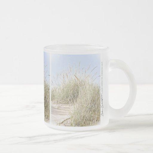 Lake Michigan Beach Grass Photo Frosted Glass Coffee Mug ...