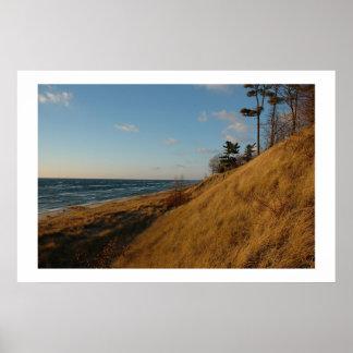 Lake Michigan Beach in Late Fall Poster