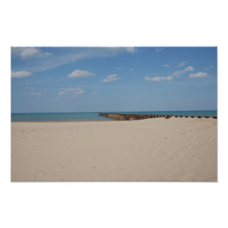 Lake Michigan Beach Poster