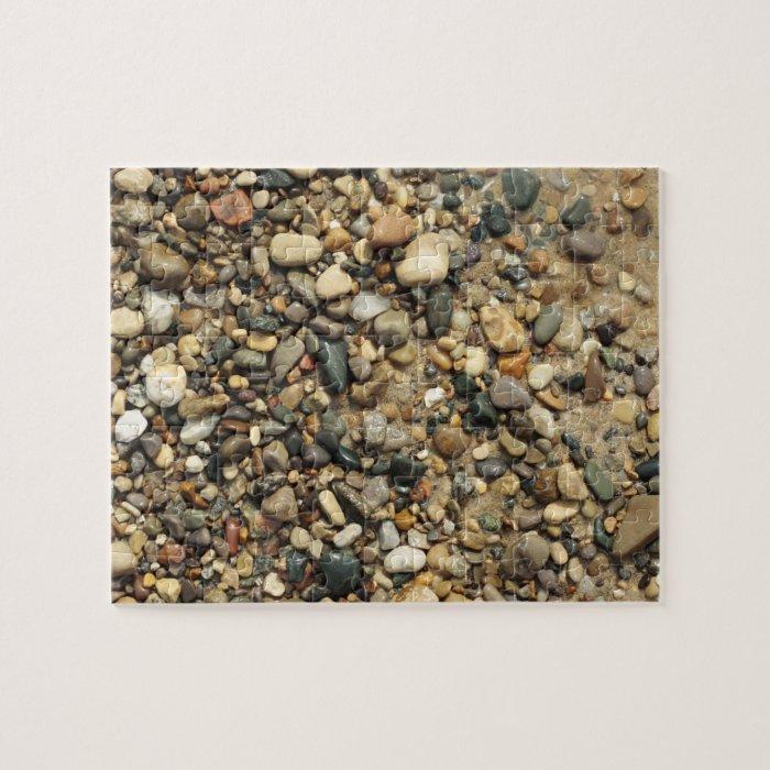 Lake Michigan Beach Rock Puzzle
