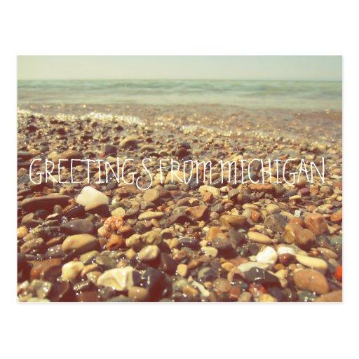 Lake Michigan Beach Rocks Post Cards