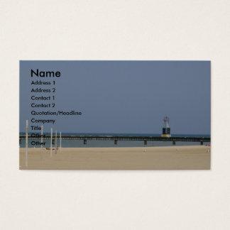Lake Michigan Beacon Light Business Card