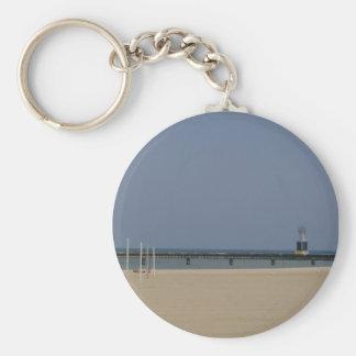 Lake Michigan Beacon Light Keychain