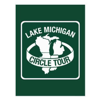 Lake Michigan Circle Tour, Sign, Wisconsin, USA Postcard