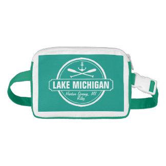 Lake Michigan, custom town, name, anchor, paddles Fanny Pack