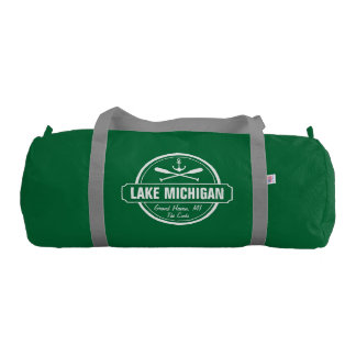 Lake Michigan, custom town, name, anchor, paddles Gym Bag