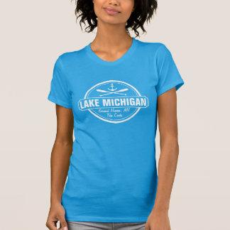Lake Michigan, custom town, name, anchor, paddles T-shirts