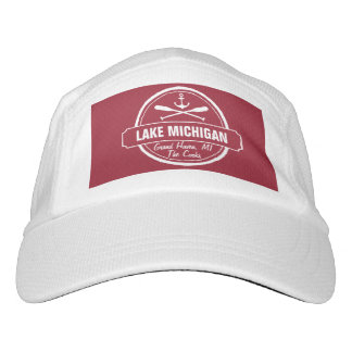 Lake Michigan, custom town, name, anchor, paddles Headsweats Hat