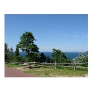 Lake Michigan from Arcadia MI Postcard