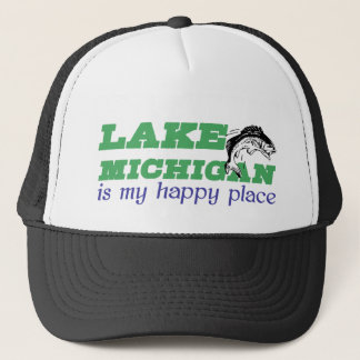 Lake Michigan is my happy place Trucker Hat