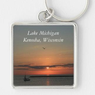 Lake Michigan, Kenosha, Wisconsin Keychain
