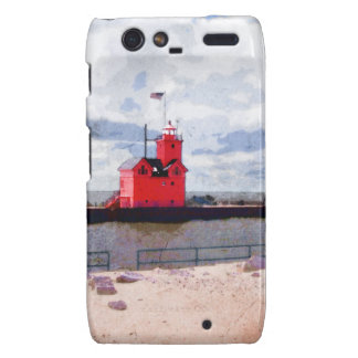 Lake Michigan Lighthouse Droid RAZR Cases