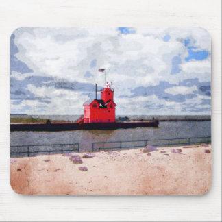 Lake Michigan Lighthouse Mouse Pad