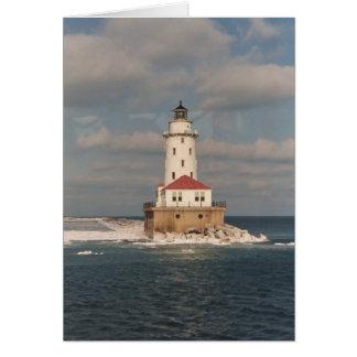 Lake Michigan Lighthouse Notecards Card